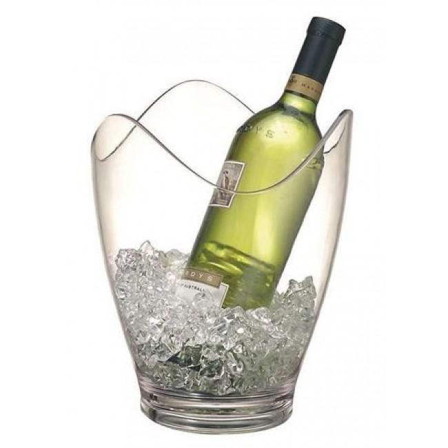 Seau à vin en acrylique transparent