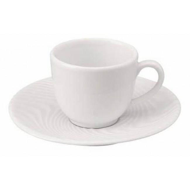 Tasse à café lisse blanche 10cl en porcelaine - Nara Deshoulières
