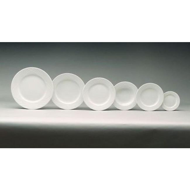Assiette plate ronde blanche 24cm