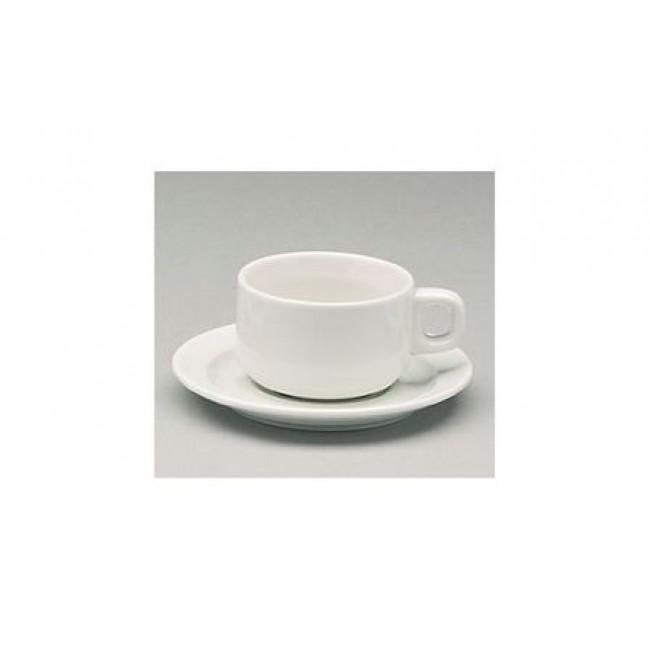 Sous-tasse à thé blanche 13,6cm