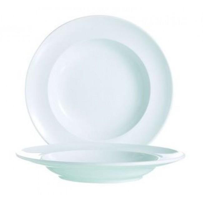 Assiette creuse ronde blanche 24cm