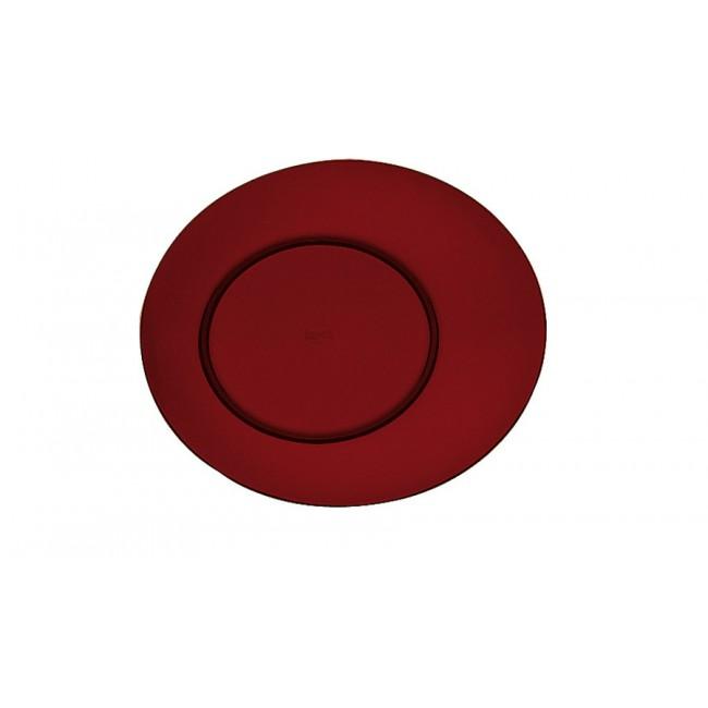 Assiette plate grenat Ø27cm en polycarbonate - Lot de 6