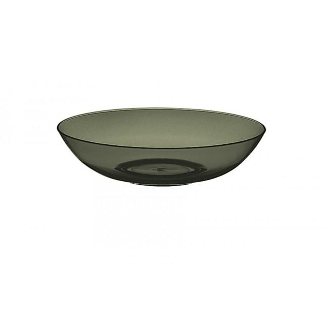 Assiette creuse onyx Ø18cm en polycarbonate - Lot de 6