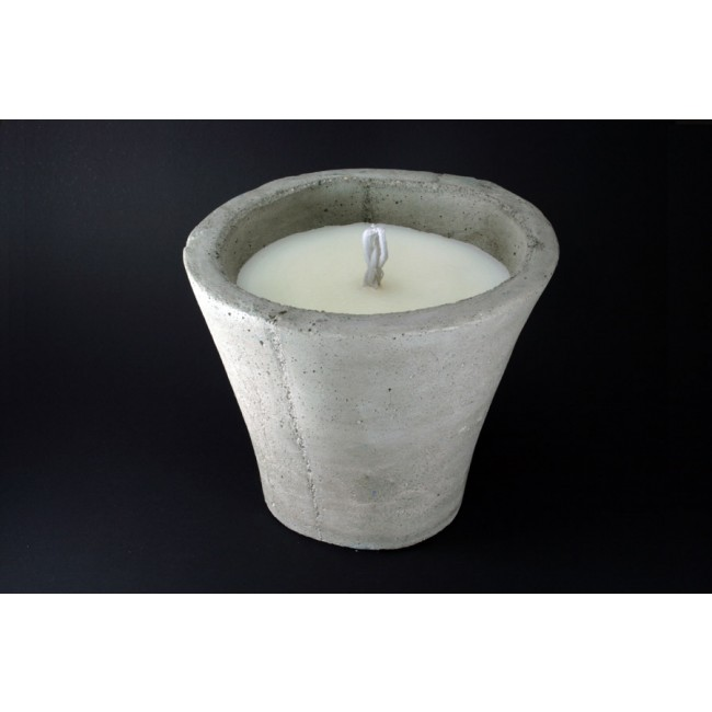 Pot bougie d'extérieur blanche à la citronnelle 37cm