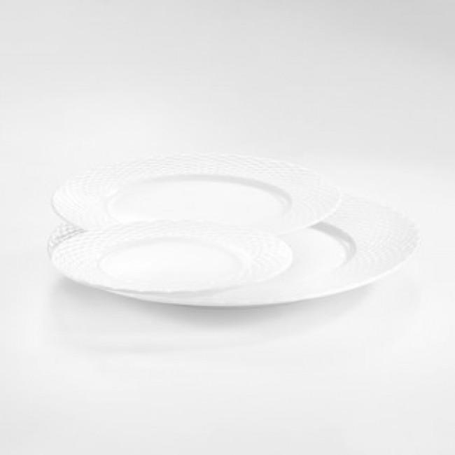 Assiette plate blanche 16cm en porcelaine - Basket - Pillivuyt