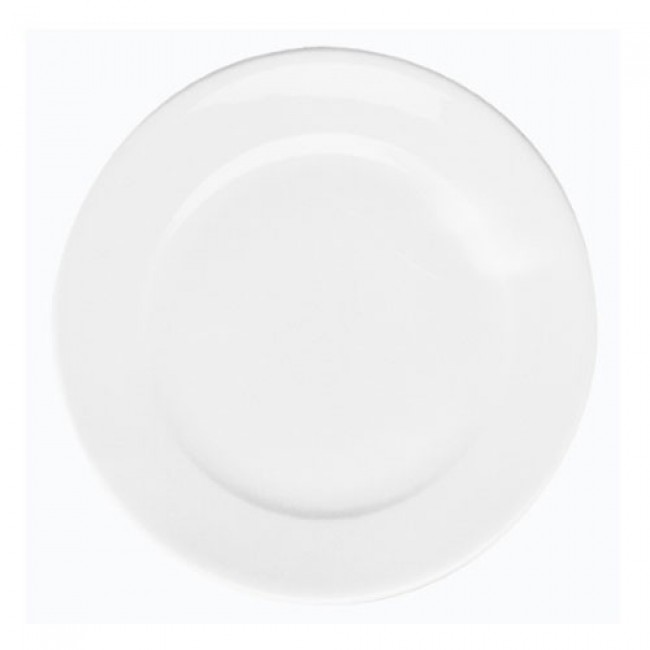 Assiette à dessert plate ronde blanche 21,5cm en porcelaine - Paris - Pillivuyt