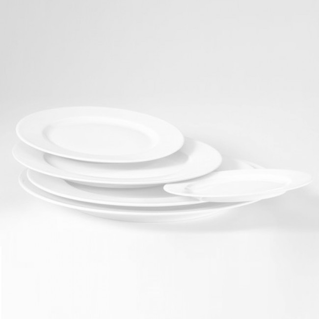 Assiette plate ronde blanche 28cm en porcelaine - Valencay - Pillivuyt