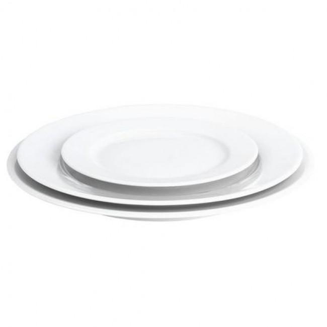 Assiette plate ronde blanche 26cm en porcelaine - Sancerre - Pillivuyt