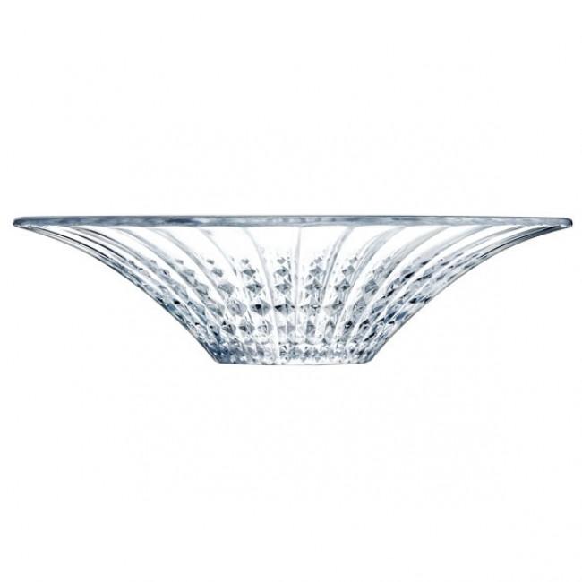 Coupe à fruits ronde 36 cm en verre krysta transparent - Lady Diamond - Eclat Cristal d'Arques