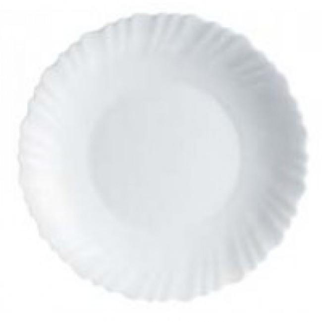 Assiette plate ronde blanche 23cm - Lot de 6