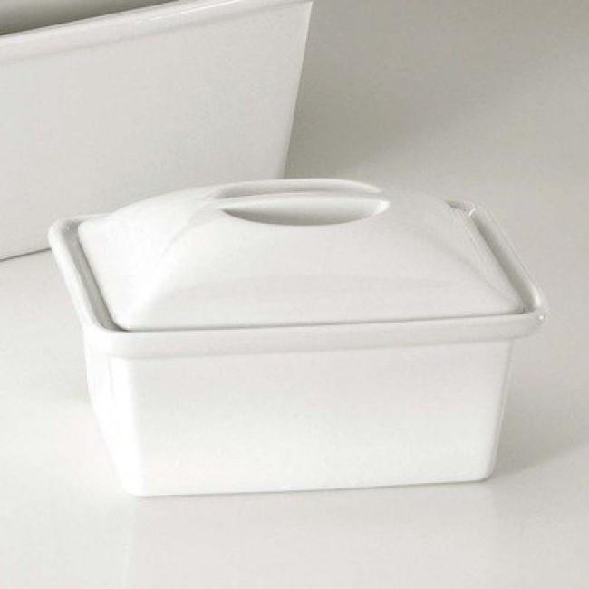 Gîte à pâté rectangulaire avec couvercle blanc 240cl en porcelaine - Pillivuyt