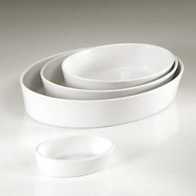 Plat sabot ovale blanc 14 x 10cm en porcelaine - Collection Generale - Pillivuyt