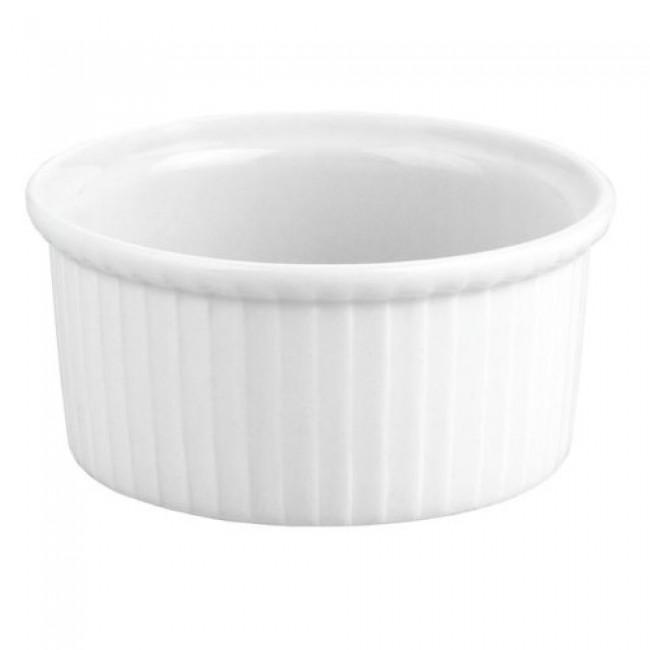 Ramequin plissé blanc 10cl en porcelaine 8cm - Buffet - Pillivuyt