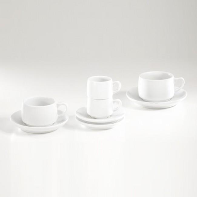 Sous-tasse à moka 12,8cm blanche en porcelaine - Paris - Pillivuyt