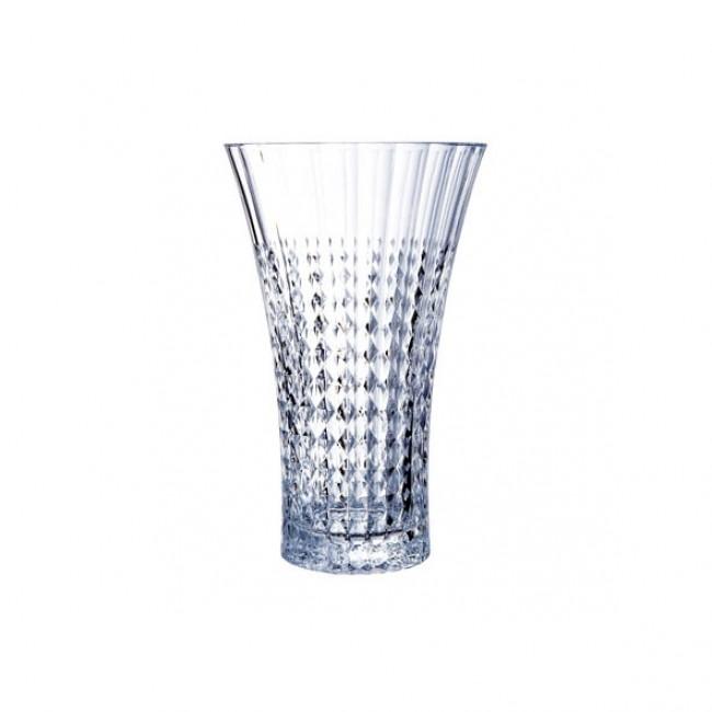 Vase en verre krysta transparent 18 x 18 x 28 cm - Lady Diamond - Eclat Cristal d'Arques