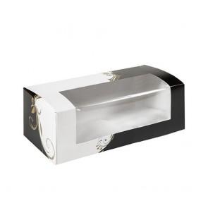 Boîtes à pâtisseries avec fenêtre 275 G/M2 18x11x8cm blanc - Lot de 50 - AZ Boutique