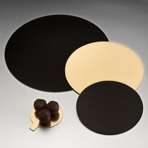 Carton rond or et noir  pour pâtisserie - 22cm - Lot de 100- Carton à pâtisserie - AZ Boutique
