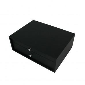 Coffret en bois noir pour ménagère 72 à 75 pièces