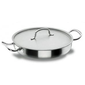 Poêle à paëlla induction à couvercle inox 18/10 - Ø 28 cm - Chef Classic - Lacor