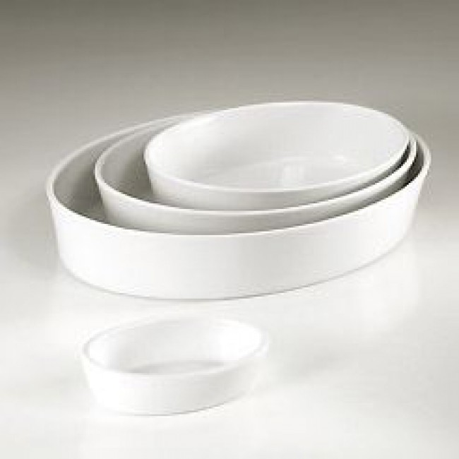Plat sabot ovale blanc 32 x 23cm en porcelaine - Collection Generale - Pillivuyt