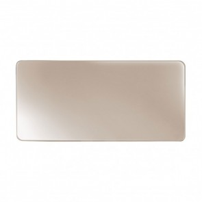Assiette plate rectangulaire 27,5 x 13cm en porcelaine taupe - Purity - Chef & Sommelier