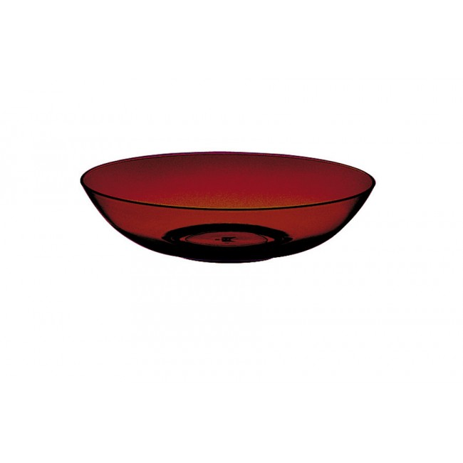 Assiette creuse grenat Ø18cm en polycarbonate - Lot de 6
