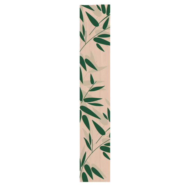 Sachet boulangerie 32g/m² 12x7x66cm kraft naturel motifs feuilles vertes - Lot de 100 - Feel Green - AZ Boutique