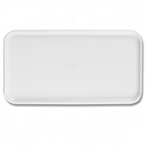 Plateau rectangulaire GN 1/3 32X17.5cm blanc en porcelaine - Evento - Guy Degrenne