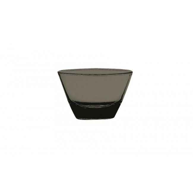 Coupelle ronde onyx Ø12cm en polycarbonate - Lot de 6