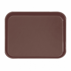 Plateau de bar antidérapant rectangulaire en fibre marron 51 x 38 cm cm - AZ Boutique