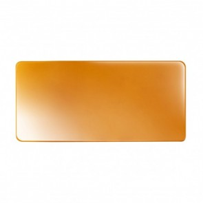 Assiette plate rectangulaire 27,5 x 13cm caramel en porcelaine - Purity - Chef & Sommelier