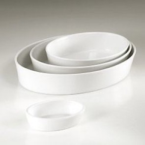 Plat sabot ovale blanc 26 x 19cm en porcelaine - Collection Generale - Pillivuyt